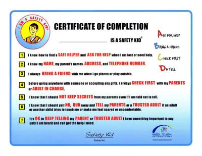 MY-Child-Safety-Institute-Safety-Kid-certificate