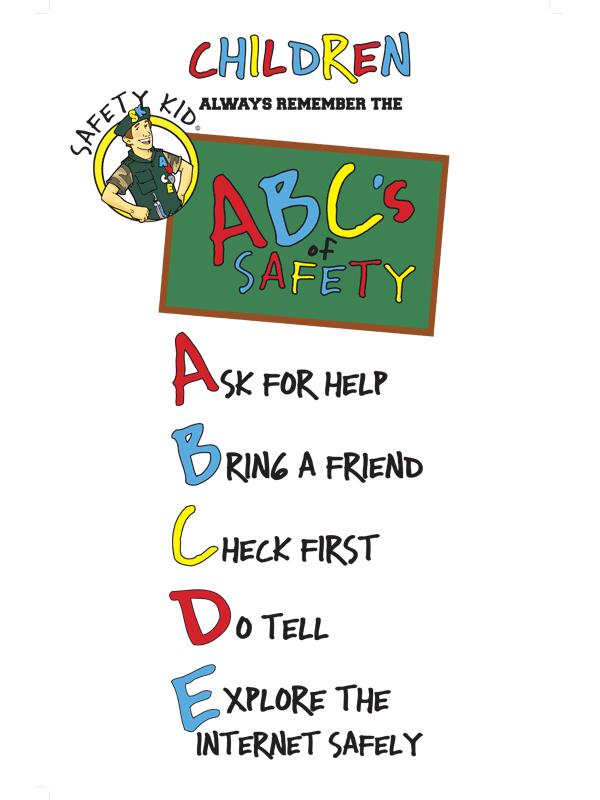 Safety Kid Abcde For Elementary School Magen Yeladim Child Safety Institute