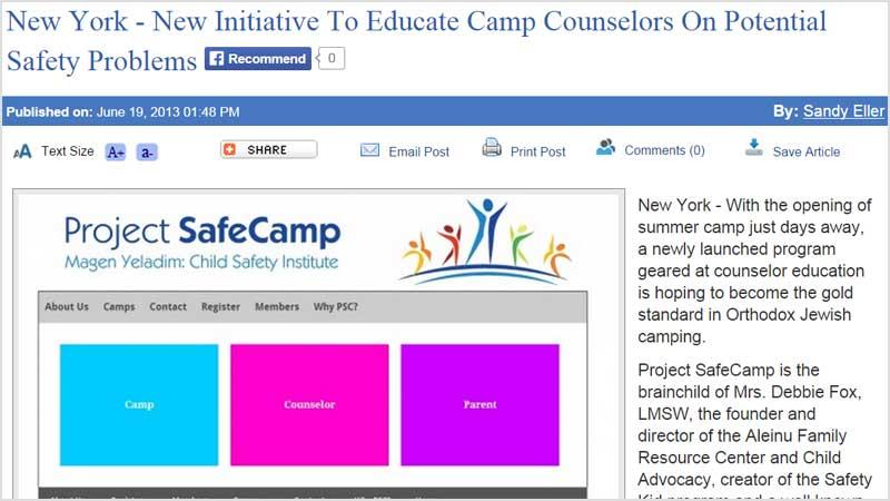 Project SafeCamp Vosizneis article